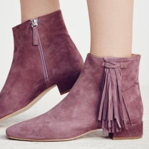 NEW 8.5 Free People Spring In Paris Purple Boot